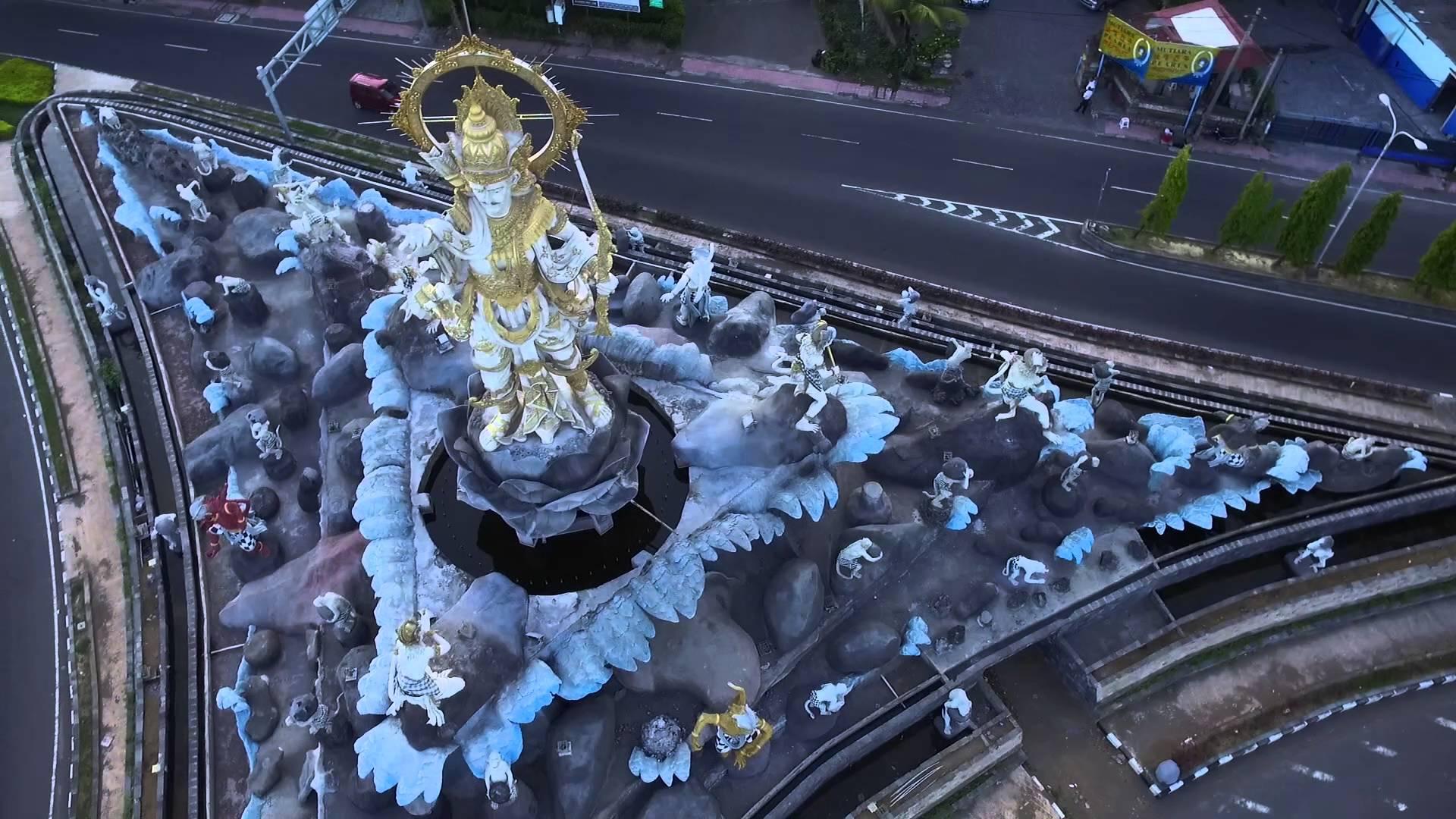 Dji Phantom 3 Patung Titi Banda Youtube Kota Denpasar