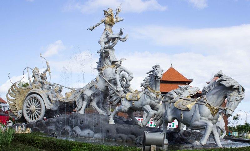 Indonesia Hinduism Patung Satria Gatotkaca International Airport Bali Titi Banda