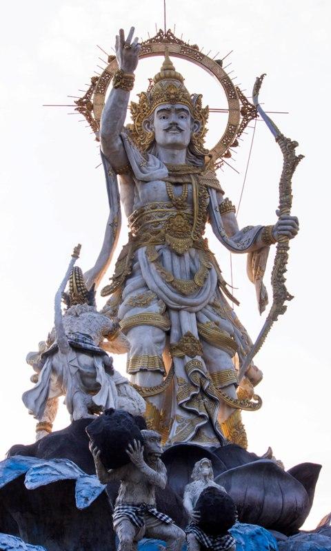 Indonesia Patung Titi Banda Wayang Epic Ramayana Lord Rama Arrow