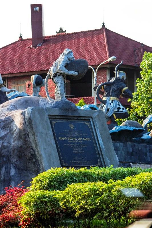 Indonesia Wanara Park Titi Banda Located Edge Jalan Pass Ngurah