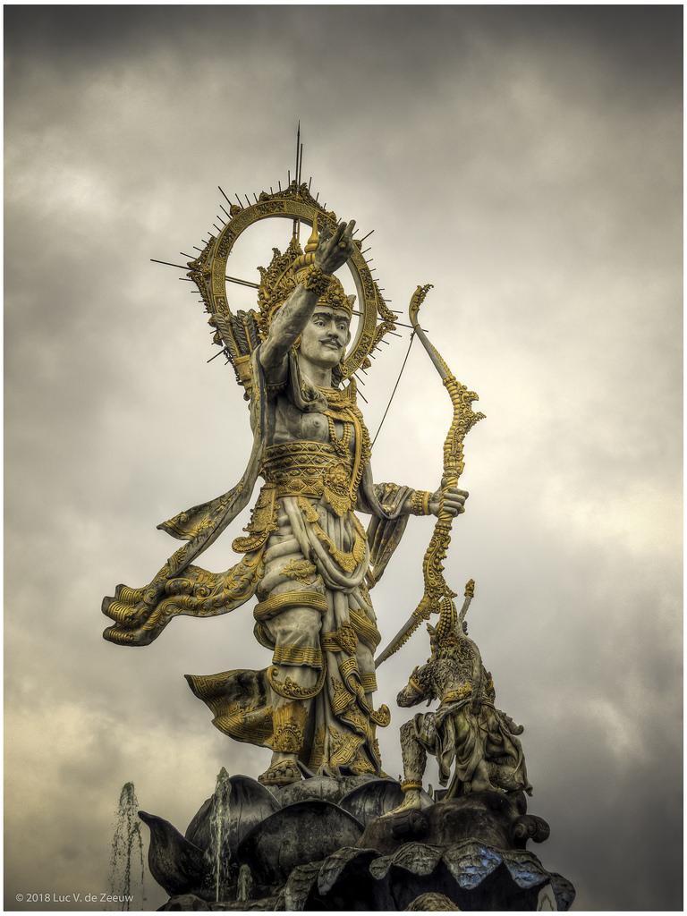 Lord Rama Patung Titi Banda Depiction Wayang Epic Flickr Ramayana