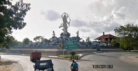 Taman Patung Titi Banda Denpasar Bali Wongcrewchild Ikon Kota
