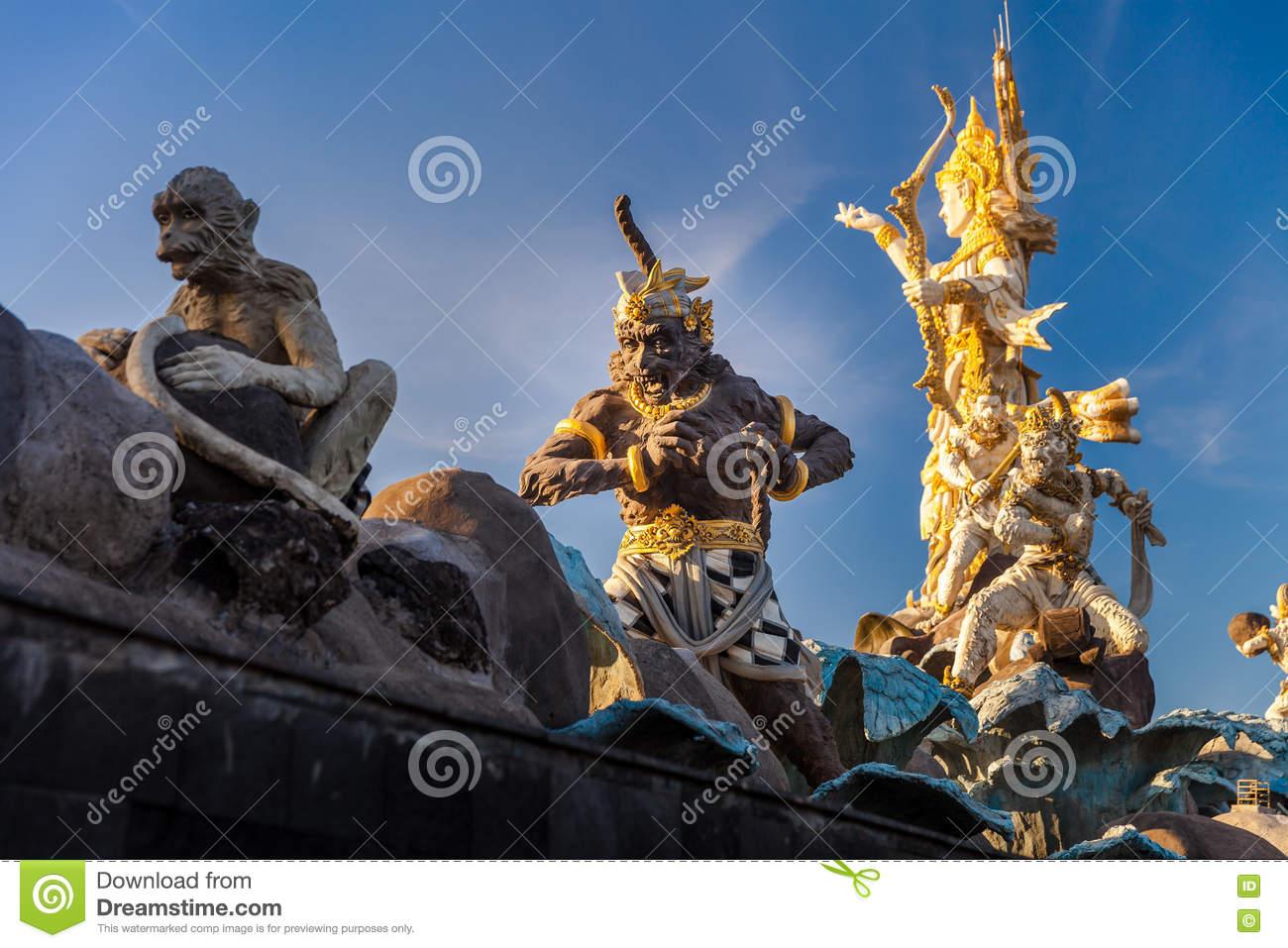 Traditional Balinese Stone Sculpture Art Culture Bali Indonesia Figure Buddhism
