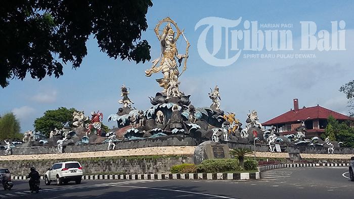 Wajah Patung Titi Banda Setelah Ditambah 15 Kera Tribun Bali