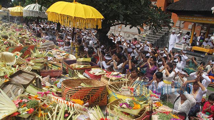 5 Bule Sembahyang Pura Agung Jagatnatha Denpasar Tribun Bali Kota