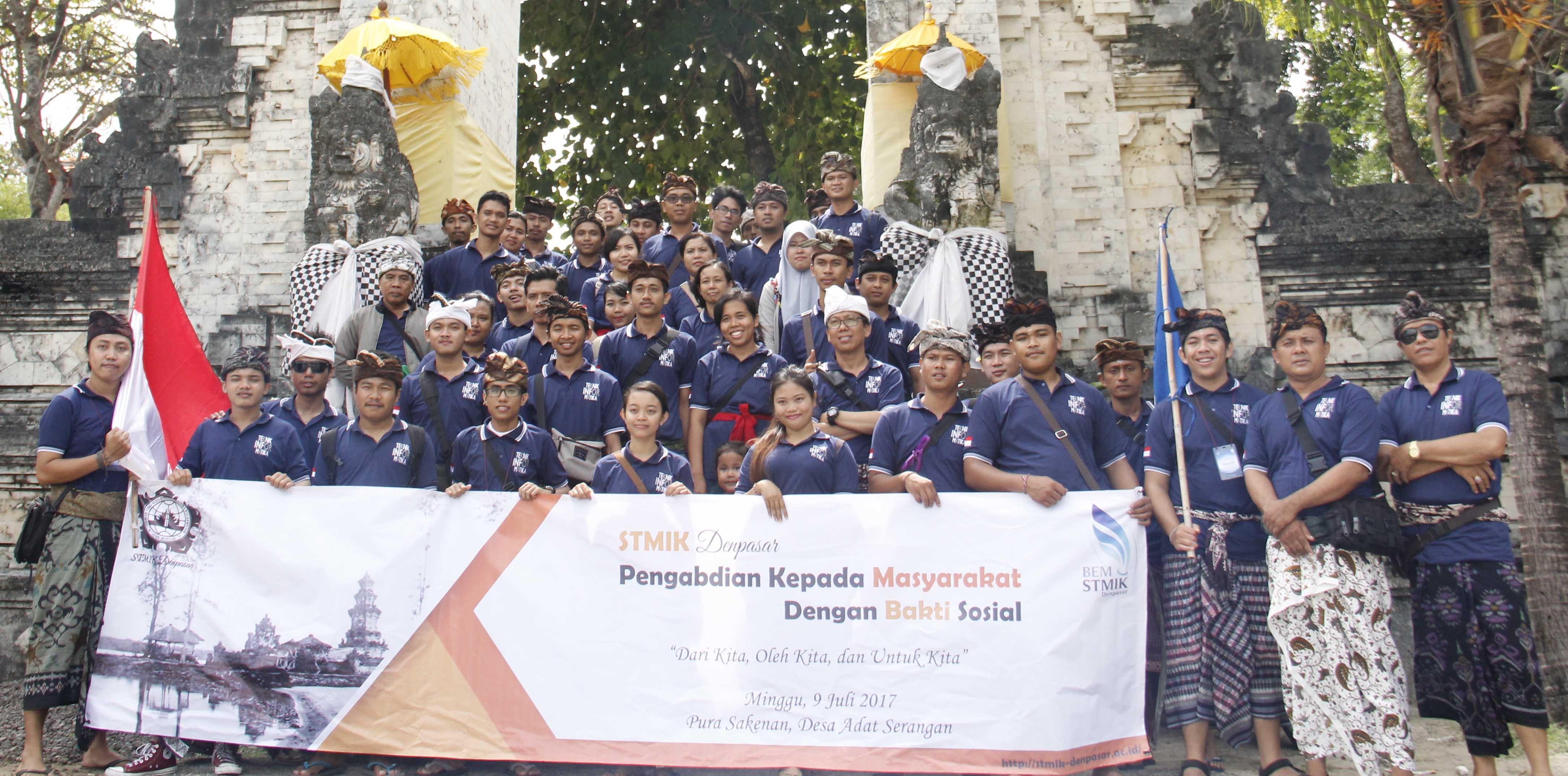 Stmik Denpasar Kampus Bali Gelar Bakti Sosial Sakenan Pura Kota
