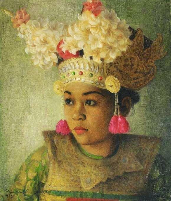 Penari Bali 26 Portrait Lukisan Dullah Seni Rupa Rupabatik Legong