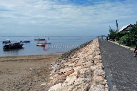 Pantai Mertasari Selatan Kawasan Sanur Bali Lokasi Berada Ujung Posisi