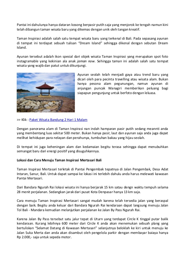 Spot Instagramble Taman Inspirasi Pantai Mertasari Bali 2 Kota Denpasar
