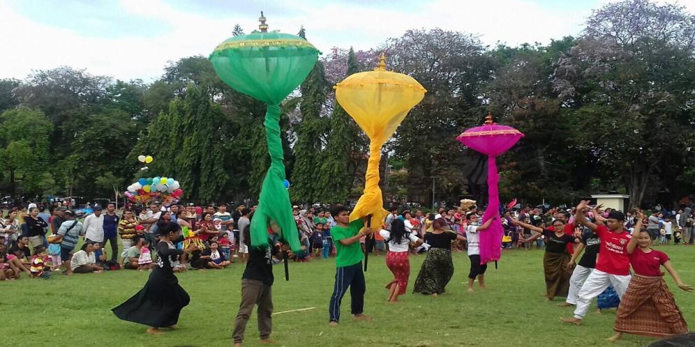 Karnaval Kebudayaan Wcf Digelar Lapangan Puputan Badung Taman Kota Denpasar