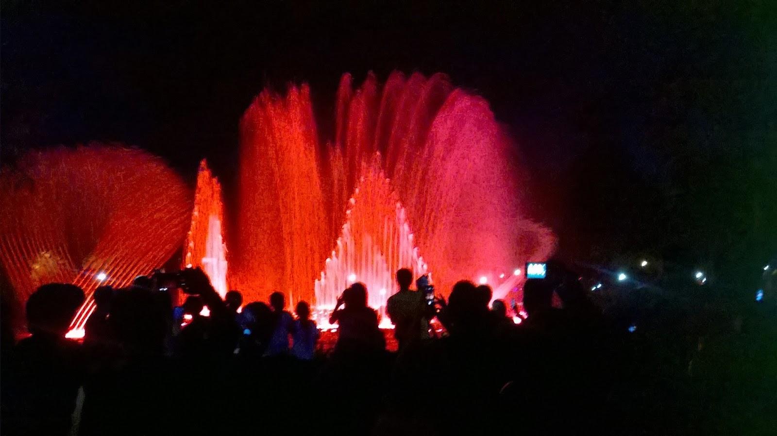 Malam Pergantian Denpasar Air Mancur Menari Taman Kota Atraksi Lumintang