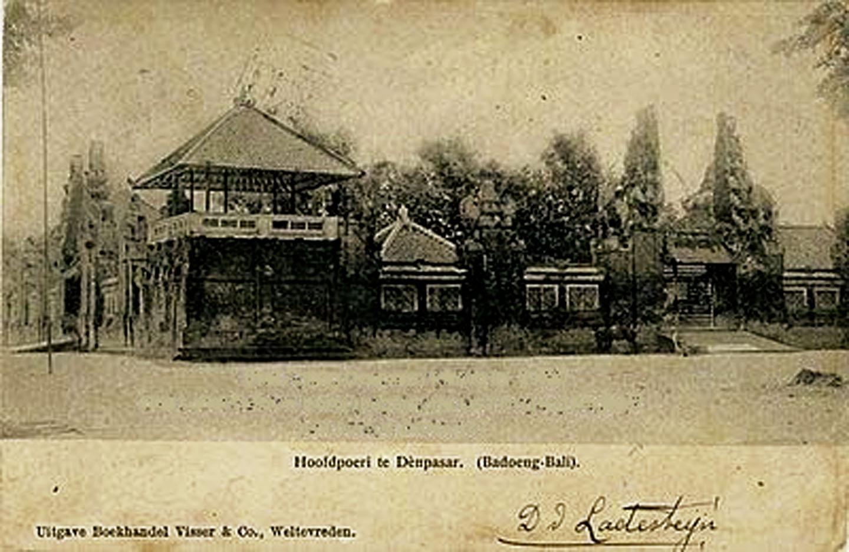 Perang Puputan Badung 20 September 1906 Puri Agung Denpasar Taman