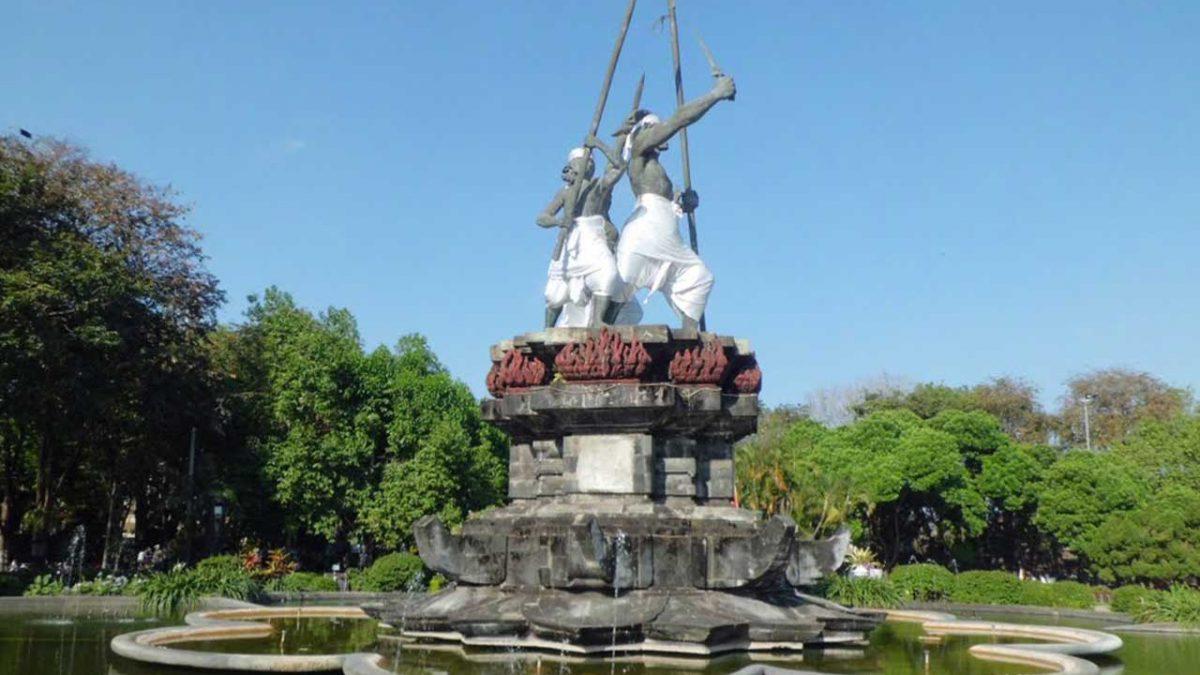 Puputan Badung Bali Lokasi Wisata Objek Lapangan Denpasar Taman Kota
