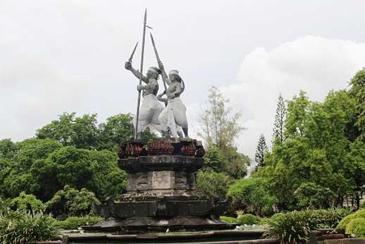 Puputan Badung Monumen Taman Kota Denpasar