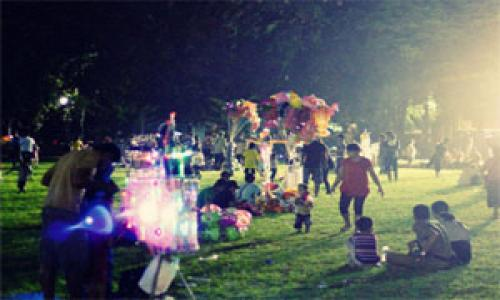 Wisata Malam Titik Nol Kilometer Kota Denpasar Denpasarkota Id Taman