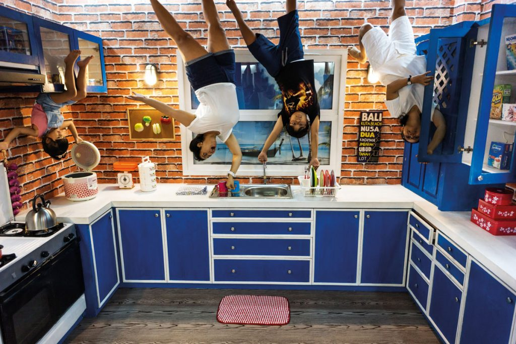 Upside World 180 Degrees Fun Bali Visitors Encouraged Memorable Photos