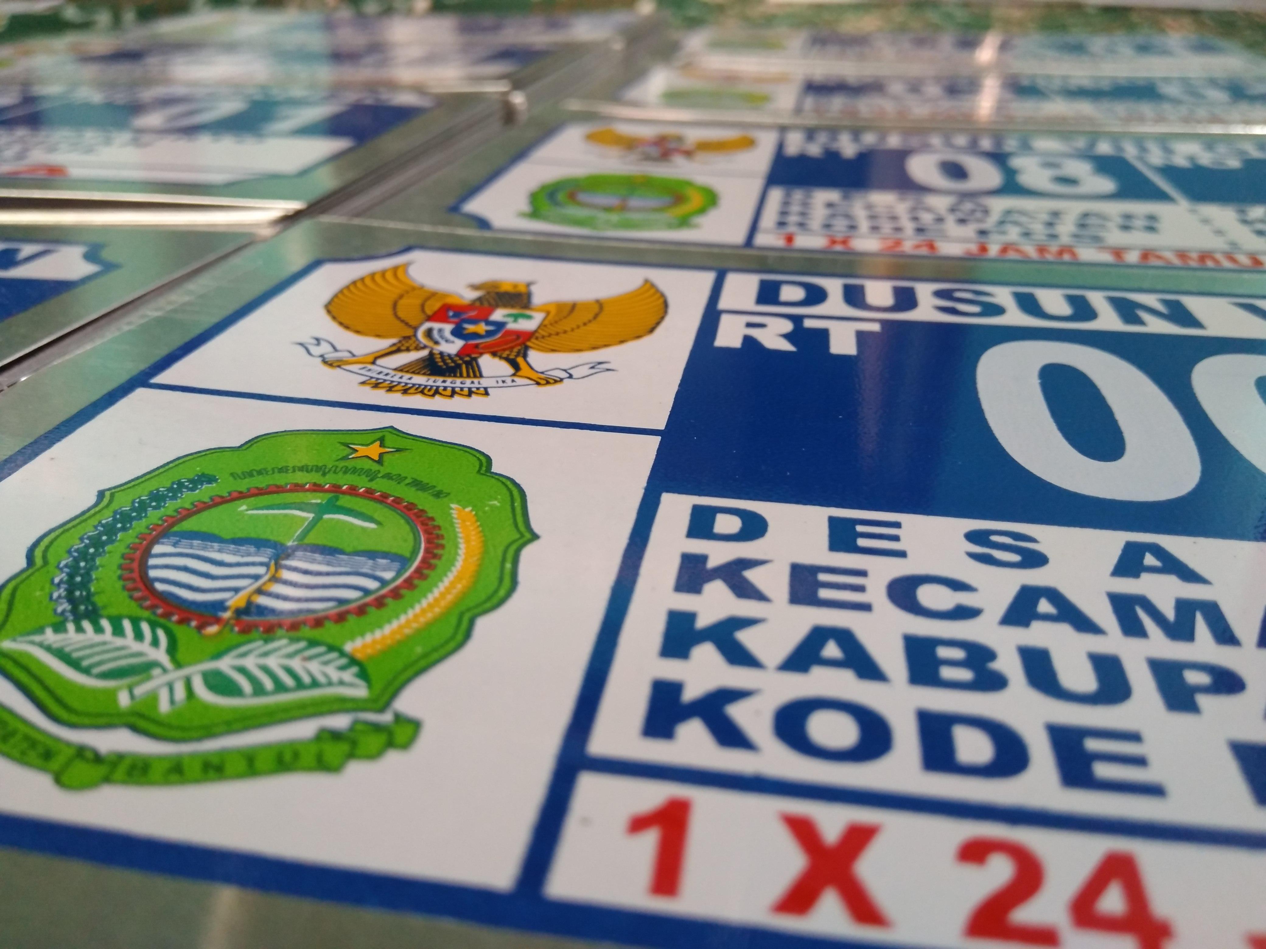 Jasa Pembuatan Plat Nomor Rumah Papan Iklan Sablon Advertising Harga
