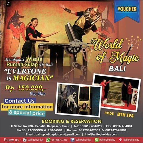 World Magic Bali Nikmati Atraksi Sulap Jadi Pesulap Wisata Wahana