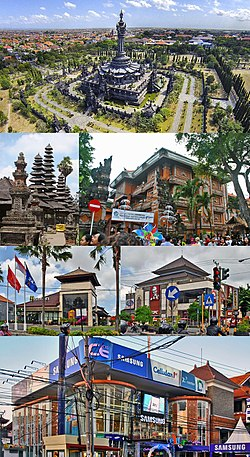 Denpasar Wikipedia Top Left Bajra Sandhi Monument Bali Temple Mayor