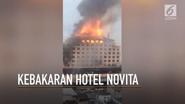 Video Dahsyatnya Kebakaran Hotel Novita Jambi Regional Liputan6 Bali Kota