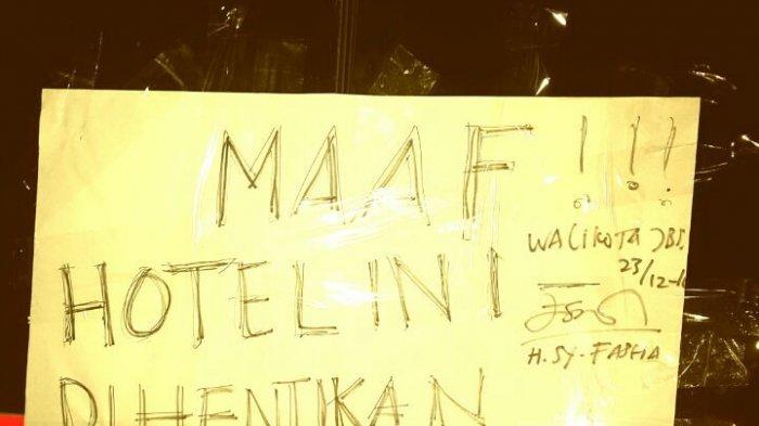 Wali Kota Jambi Segel Satu Hotel Berbintang Menyusul Temuan Ornamen