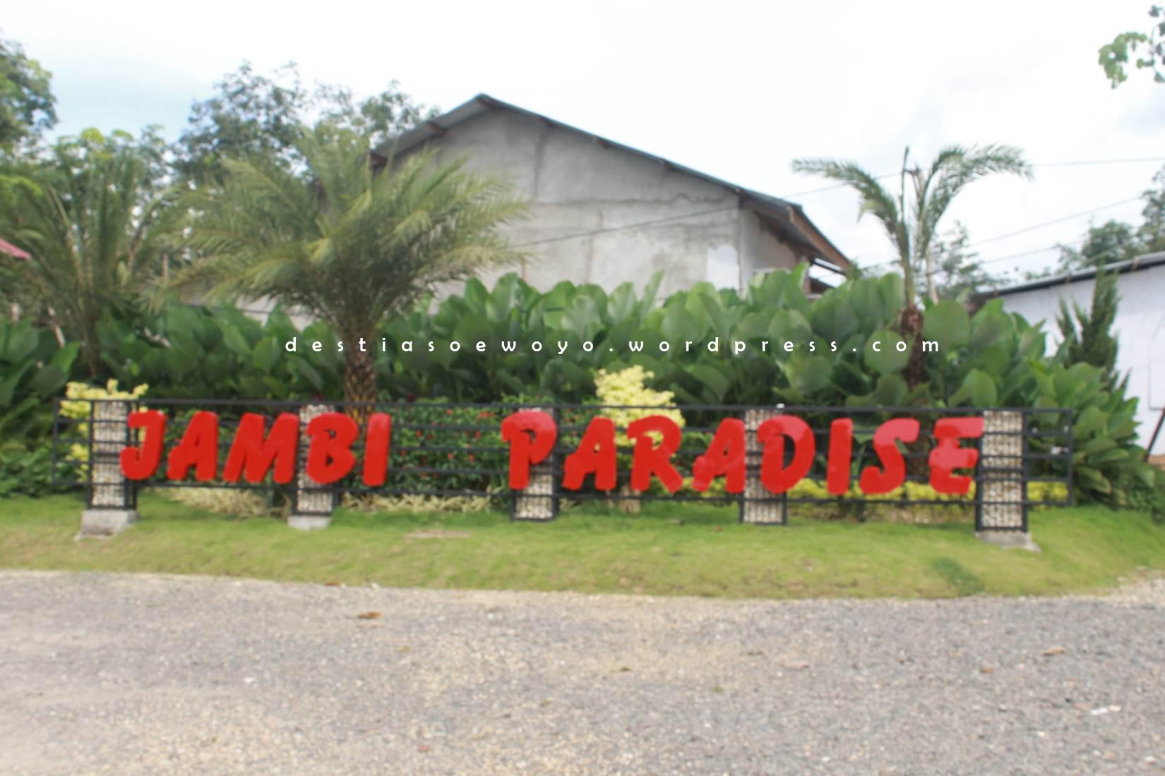 Jambi Paradise Wisata Taman Explore Architecturediary Entrance Depan Kota