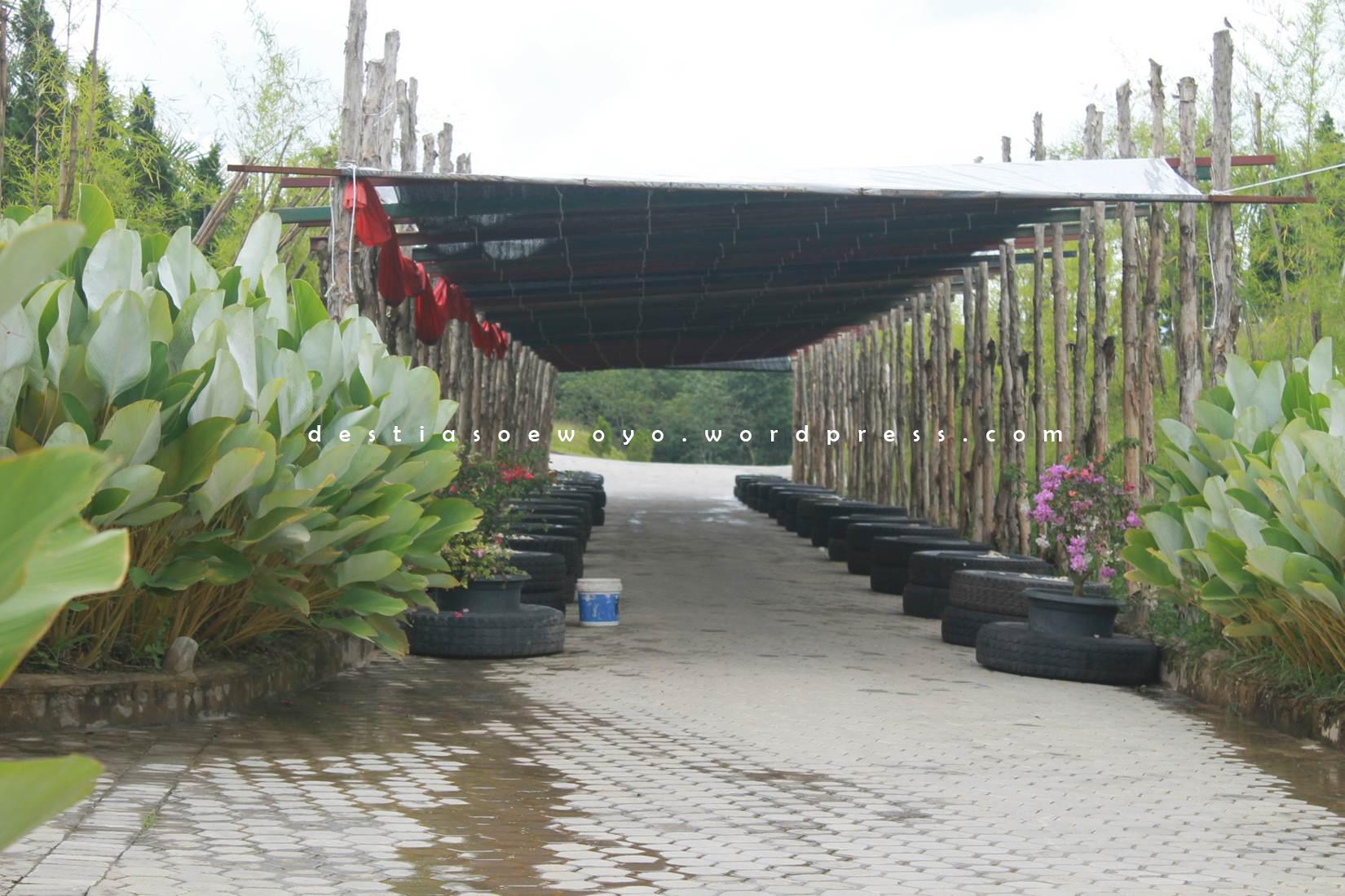 Jambi Paradise Wisata Taman Explore Architecturediary Pergola Kota