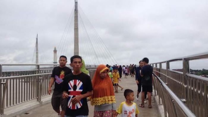 2018 Harapan Pengunjung Jembatan Pedestrian Gentala Arasy Kota Jambi