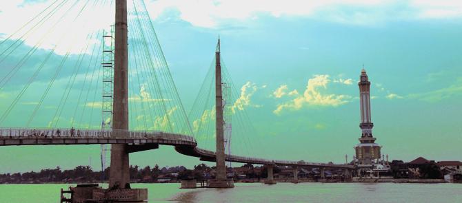 Gentala Arasy Bridge Jambi Icons Built 2012 Inaugurated Jusuf Kalla