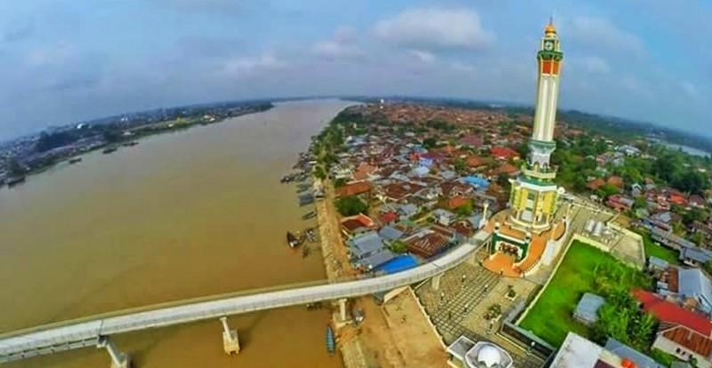 Indahnya Menara Gentala Arasy Metrojambi Berita Jambi Digital Terlihat Jembatan
