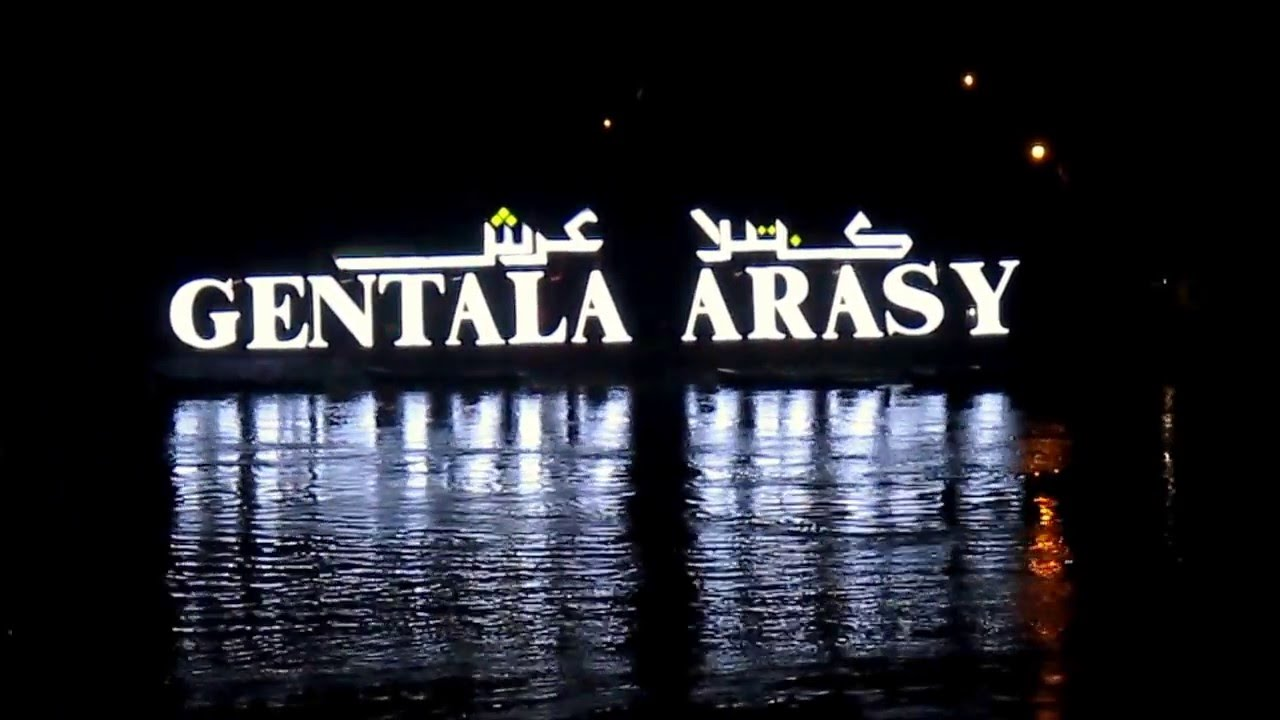 Jembatan Gentala Arasy Waktu Malam Youtube Pedestrian Kota Jambi