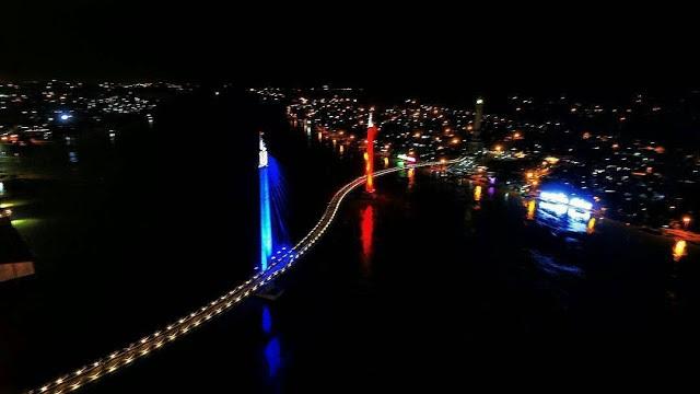 Objek Wisata Kota Jambi Jembatan Pedestrian Gentala Arasy Wartanews Salah