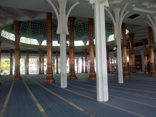 Interior Masjid Picture Agung Al Falah Mosque Jambi Tripadvisor Kota