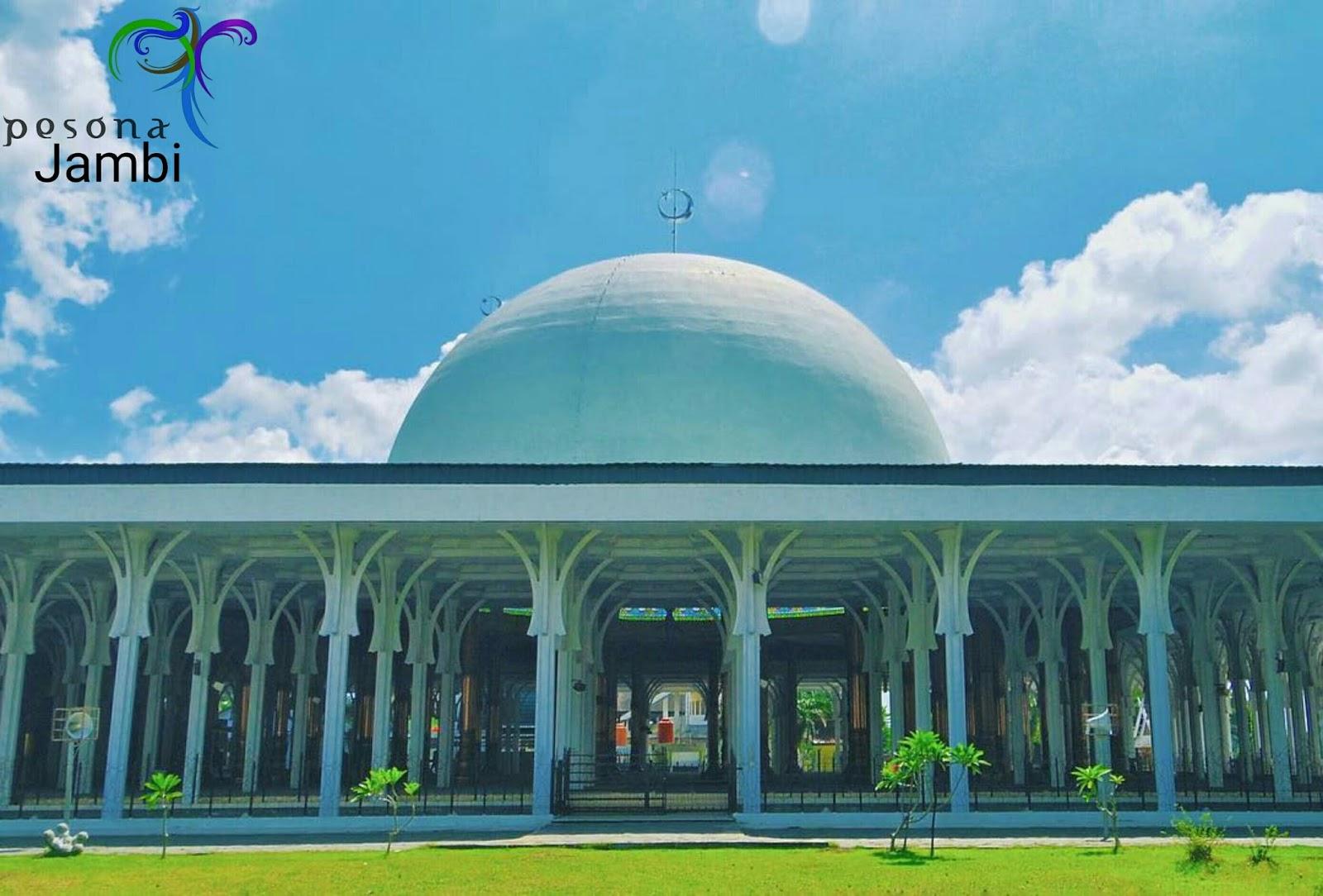 Pesona Jambi Mesjid Agung 1000 Tiang Al Falah Masjid Kota