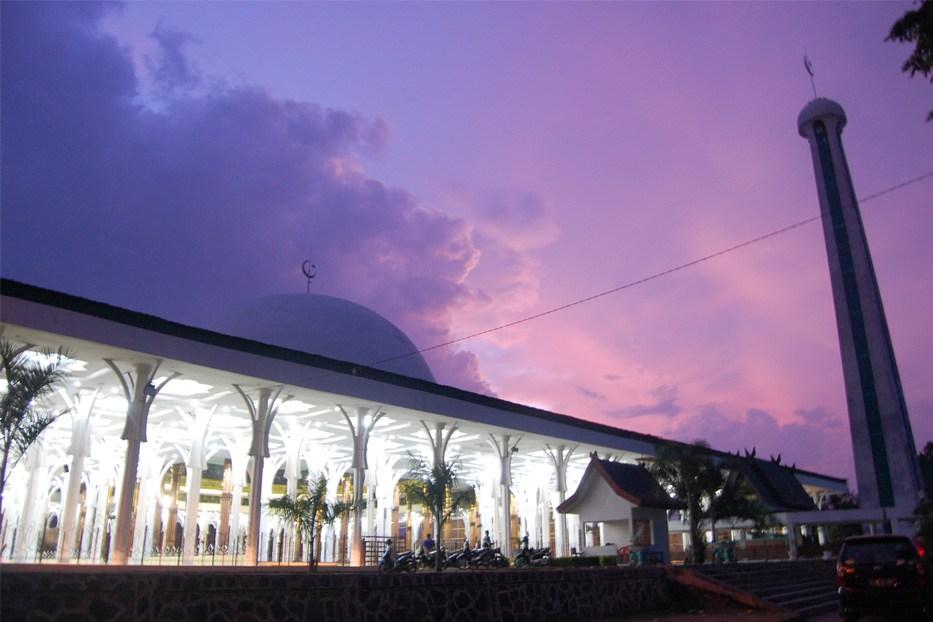 Tak Tahu Lokasi Masjid Agung Al Falah Dulunya Pusat Istana