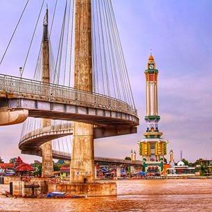 Menara Gentala Arasy Wisata Kota Pembangunan Jembatan Gantung Tersebut Diperkirakan
