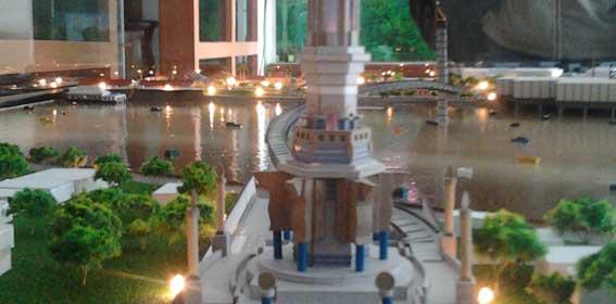 Volunteer Menara Gentala Arasy Beautiful Jambi Ikon Kota