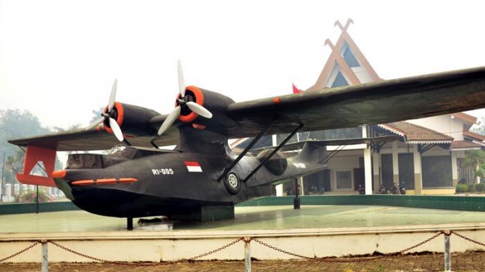 Pesawat Catalina Museum Perjuangan Jambi Bukti Perlawanan Rakyat Agresi Militer