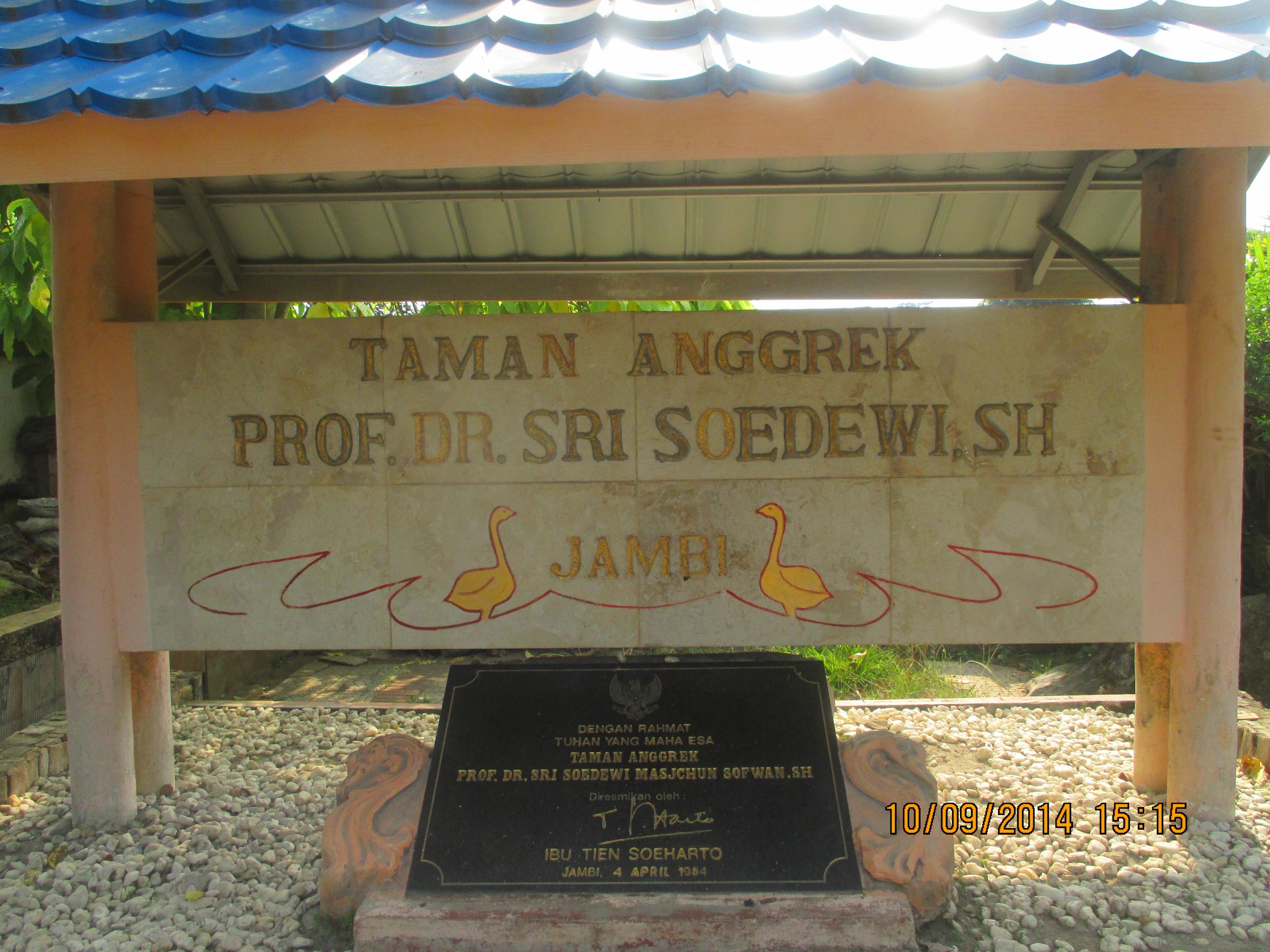 Taman Anggrek Prof Dr Sri Soedewi Sh Jambi Yanmata Memasuki