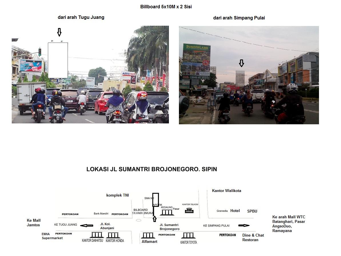 Cemara Advertising Jambi Billboard 5x10m 2 Sisi Simpang 4 Sipin