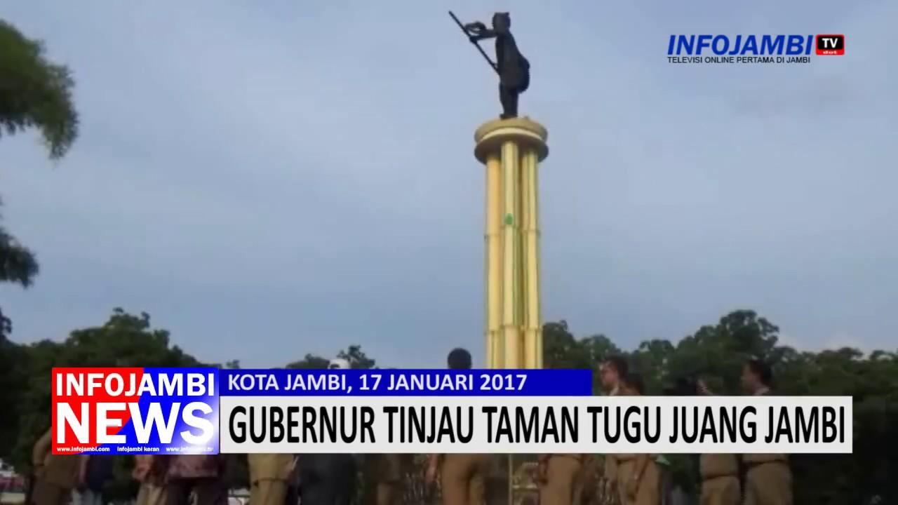 Gubernur Tinjau Taman Tugu Juang Jambi Youtube Sipin Kota
