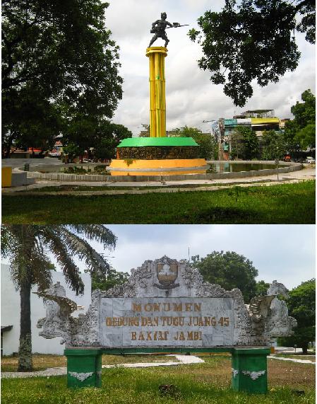 Patung Simbolis Tugu Monumen Juang Jambi Tempo Lagu Art Sipin