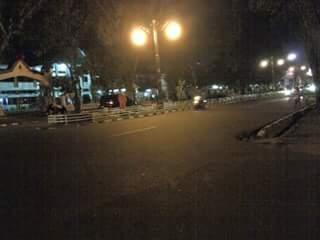Penampakan Kota Jambi Malam Takbiran Tugu Juang Sipin