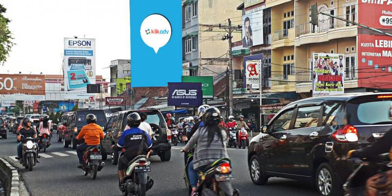 Sewa Billboard Jambi Kota Jl Kolonel Abunjani Simpang 4 Depan