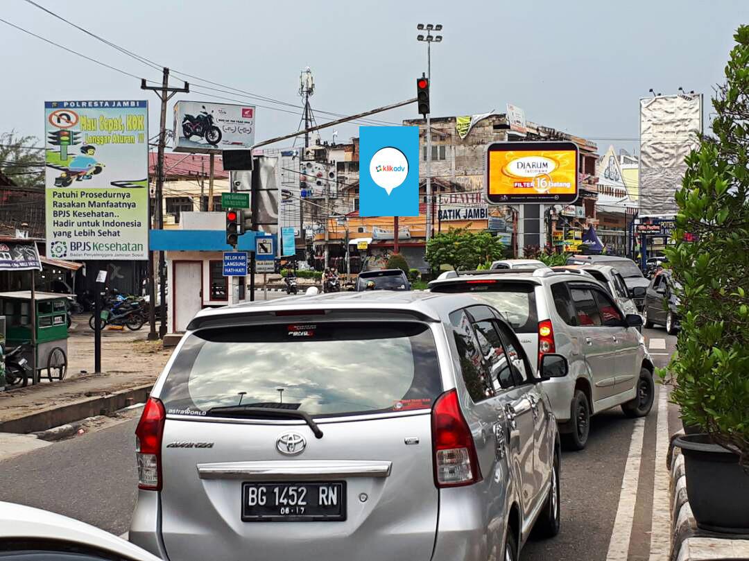 Sewa Billboard Jambi Kota Jl Sumantri Brojonegoro Simpang Honda 2