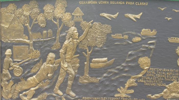Tugu Juang Monumen Perjuangan Rakyat Jambi Melawan Belanda Sayang Relief