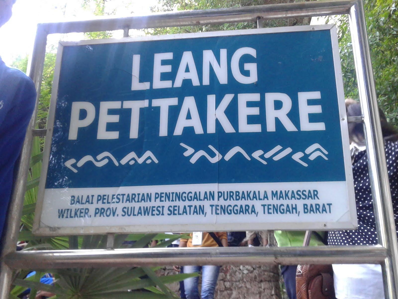 Jejak Sombere Makassar Bagian Pertama Rizka Sitanggang Plang Tulisan Leang