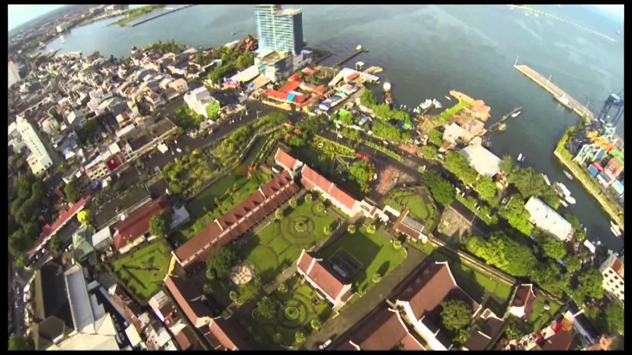 Drone Fort Rotterdam Makassar Youtube Benteng Kota