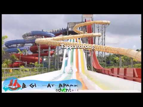 Bugis Waterpark Adventure Makassar Indonesia Youtube Water Park Kota