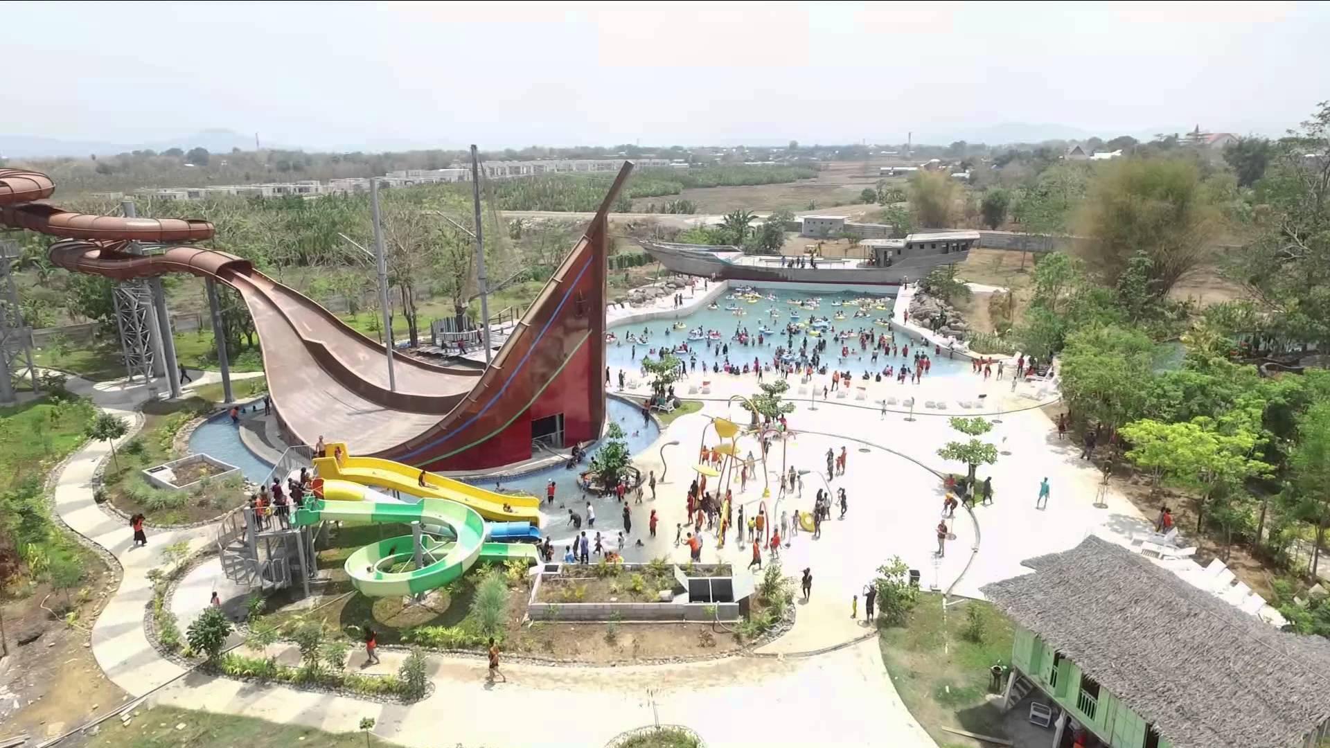 Bugis Waterpark Aerial Video Youtube Water Park Kota Makassar